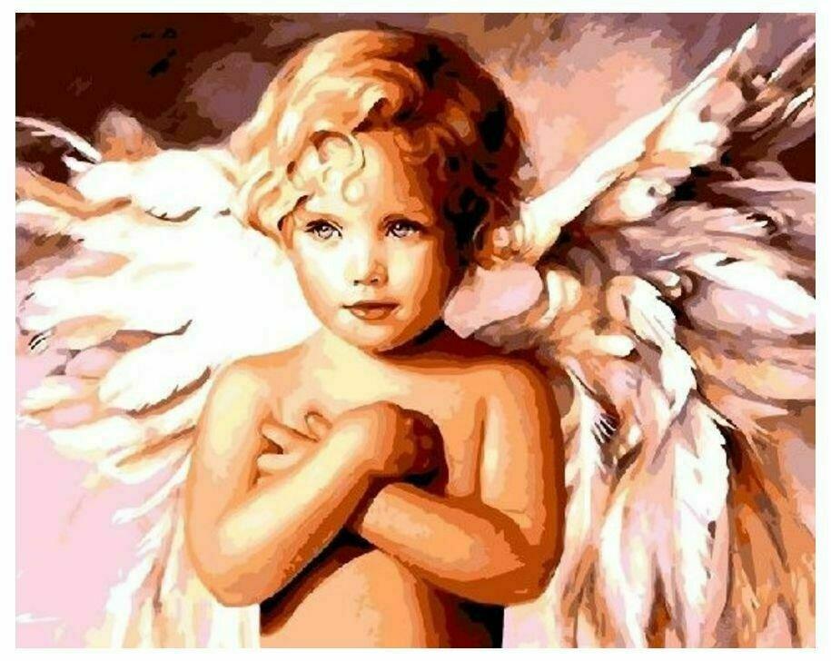 Картина по номерам GX 8940 Милый ангел 40*50