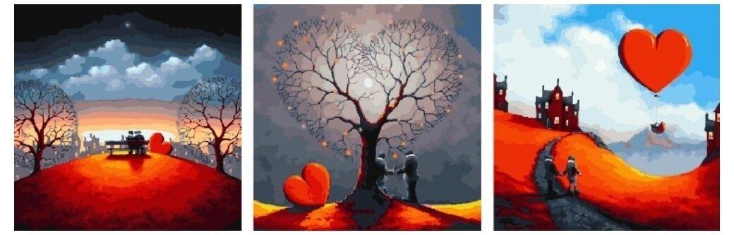Картина по номерам PX 5250 Единение сердец 50*50*3