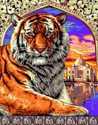 Картина по номерам 40х50 - Индийский тигр