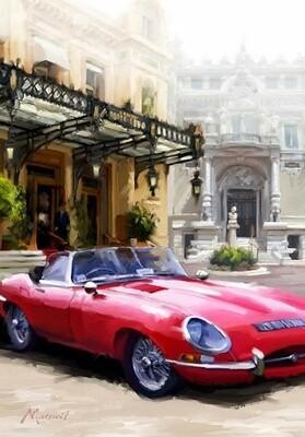 Картина по номерам 40х50 - Красный автомобиль
