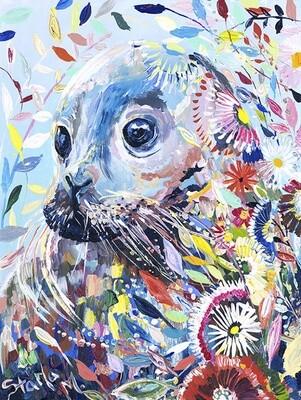 Картина по номерам 40х50 - Цветочный морской котик