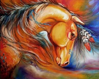 Картина по номерам 40х50 - Индейская лошадь