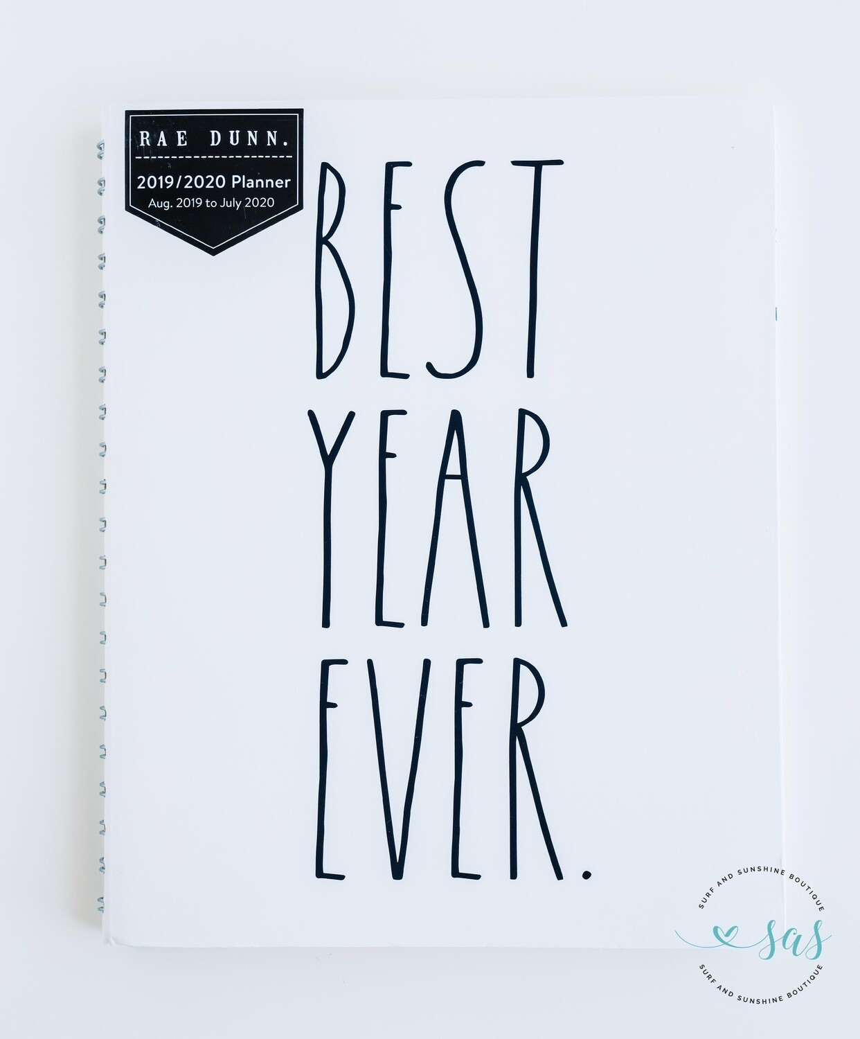 Rae Dunn 2020 Spiral 12-Month Planner BEST YEAR EVER (Large)