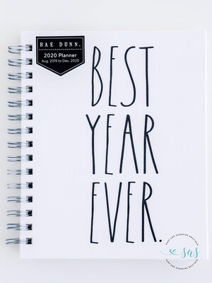 Rae Dunn 2020 Spiral 17-Month Planner BEST YEAR EVER (Small)