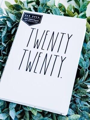 Rae Dunn 2020 Spiral 12-Month Planner TWENTY TWENTY (Small)