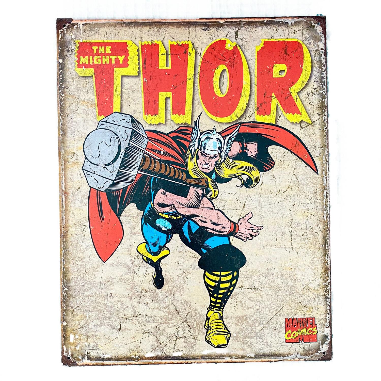 Marvel Comics Thor Retro Tin Sign Art