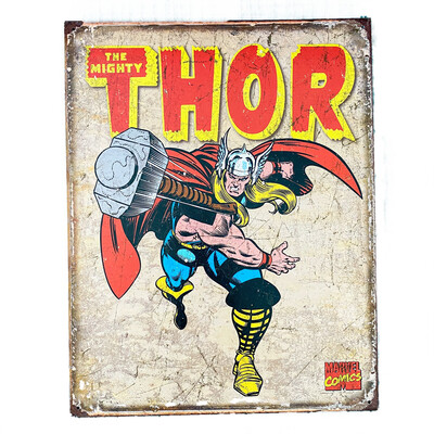Marvel Comics Thor Retro Tin Sign Art