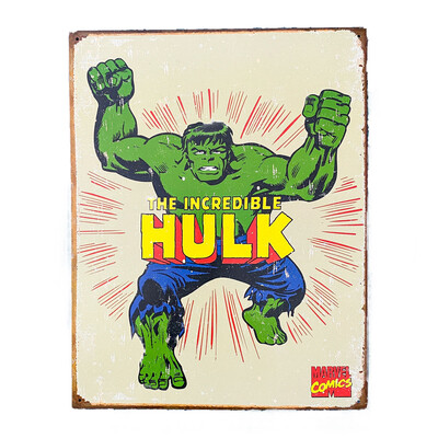 Marvel Comics The Incredible Hulk Retro Tin Sign