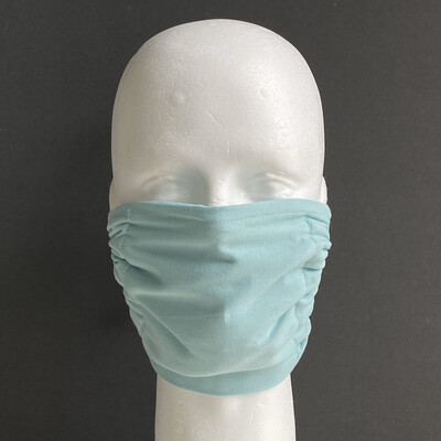 Solid Turquoise Glass Reusable Cloth Face Mask