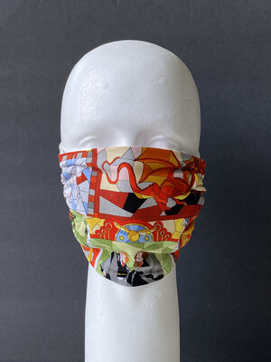 Harry Potter Stained Glass Windows Reusable Cloth Face Mask