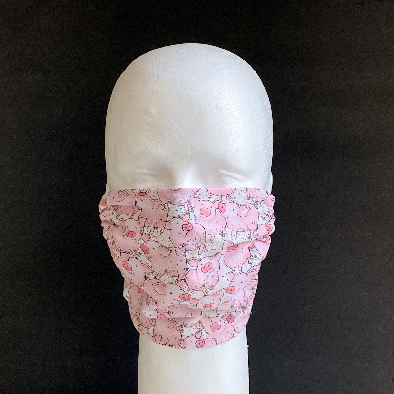 All The Little Piggies Adjustable Reusable Cloth Face Mask