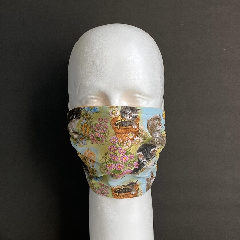 Garden Kittens Reusable Cloth Face Mask