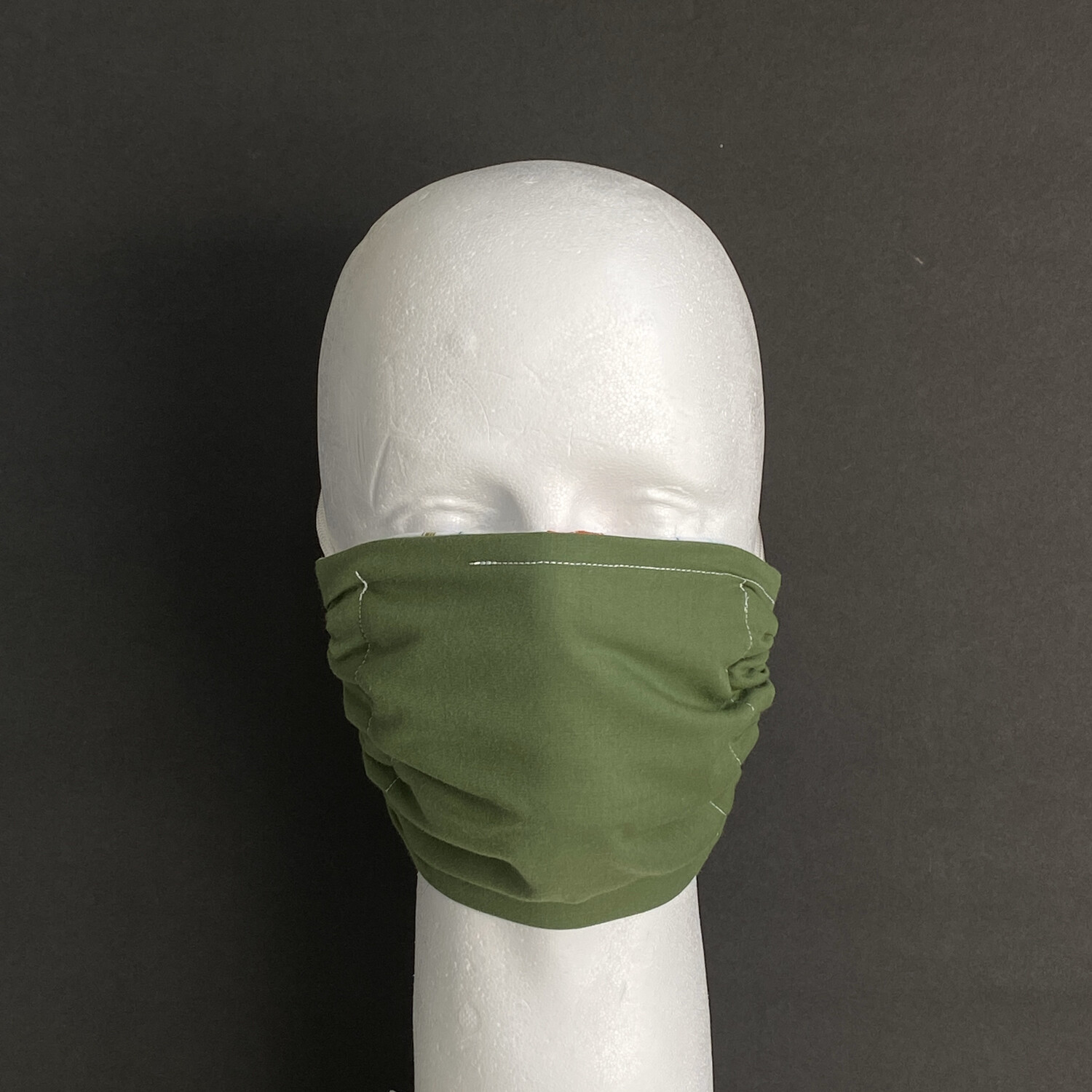 Solid Army Green Reusable Cloth Face Mask