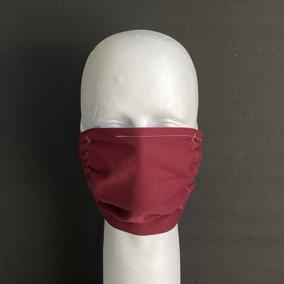 Solid Burgundy Reusable Cloth Face Mask