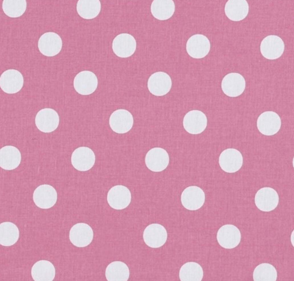 Large Polka Dot on Rose Pink Reusable Cloth Face Mask