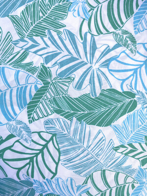 READY TO SHIP Tropical Leaves Adjustable Reusable Cloth Face Covering