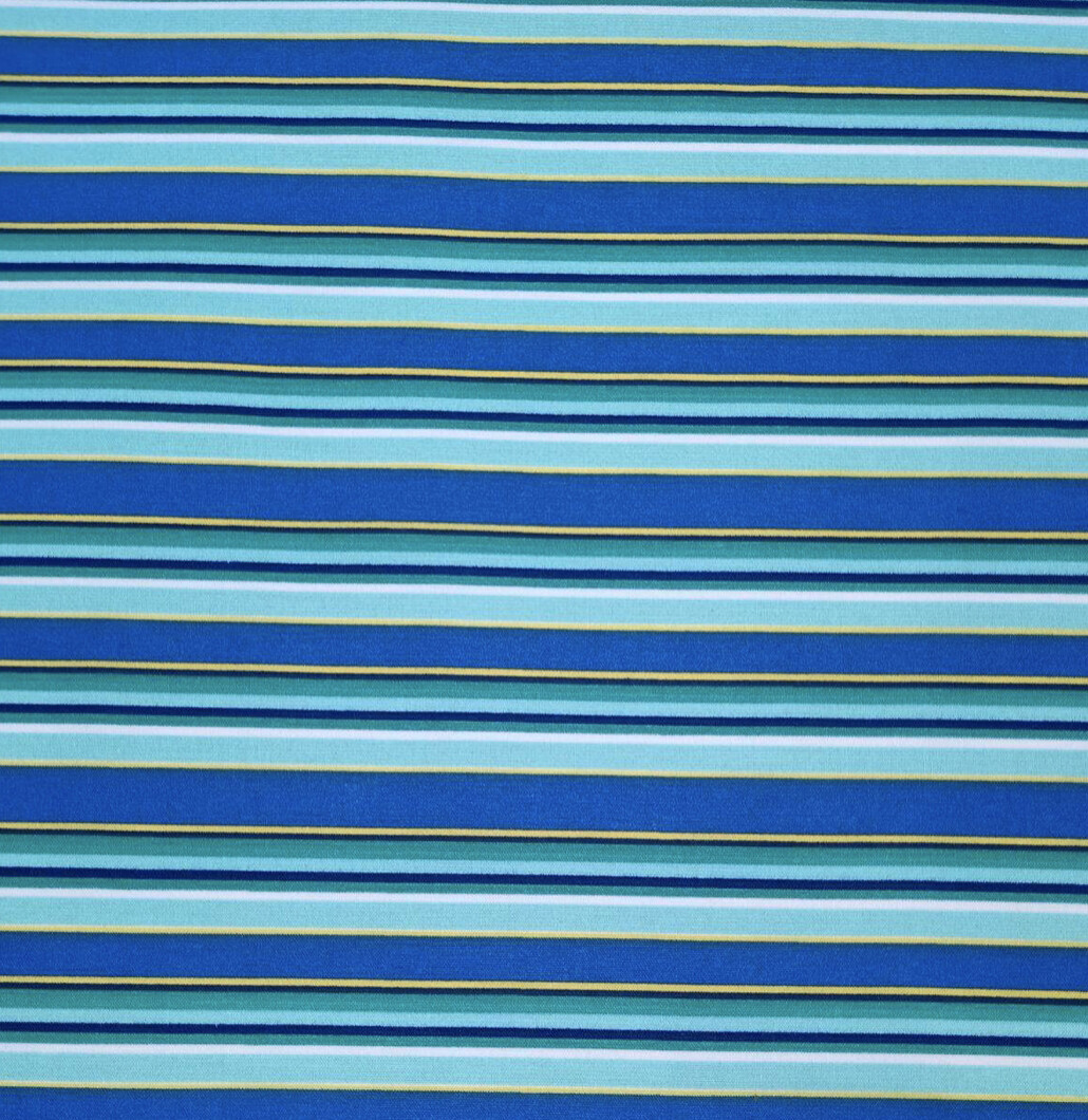 Thin Stripes Blue And Green Adjustable Reusable Cloth Face Mask