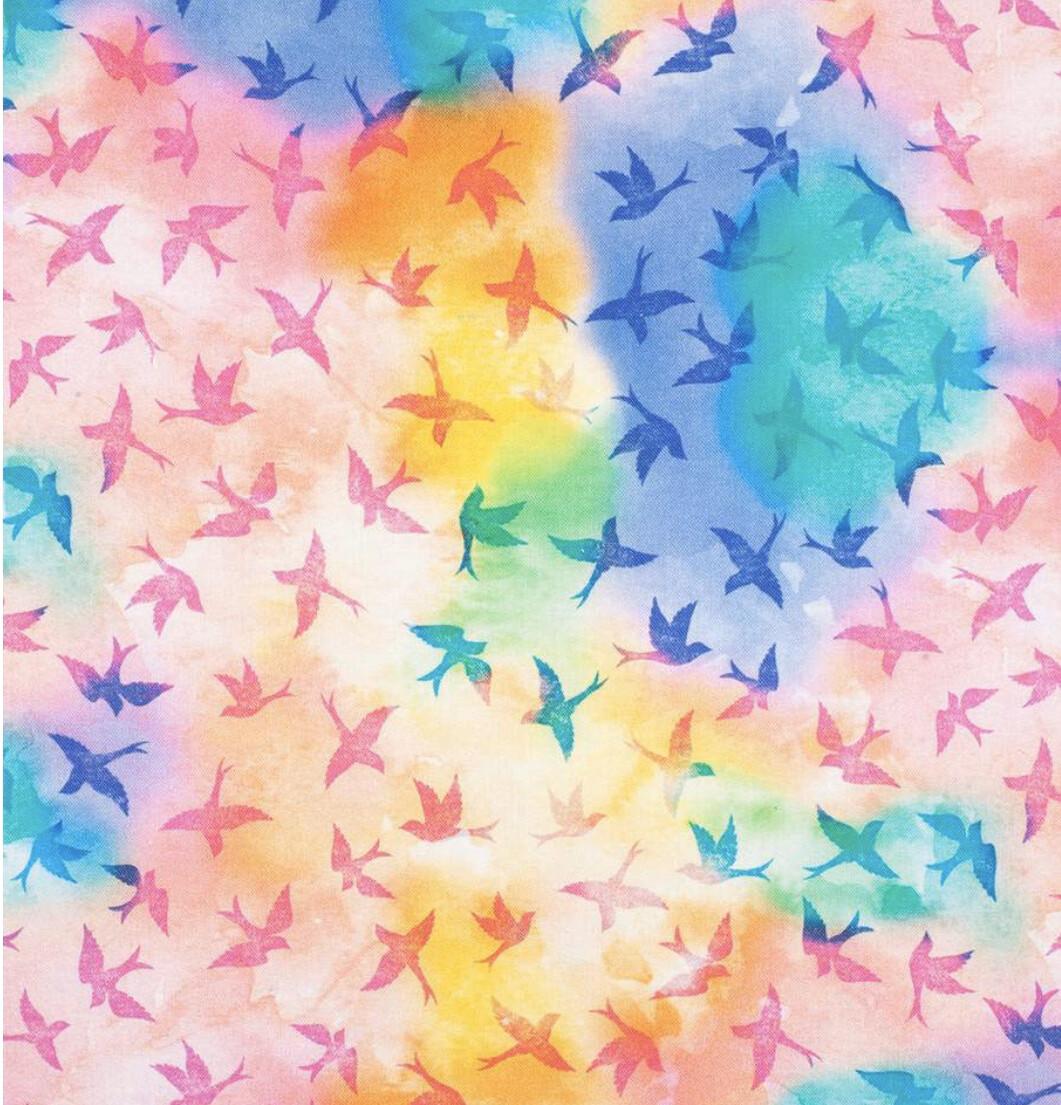 Rainbow Birds Reusable Cloth Face Mask