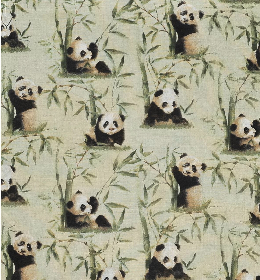 Pandas and Bamboo Adjustable Reusable Cloth Face Mask