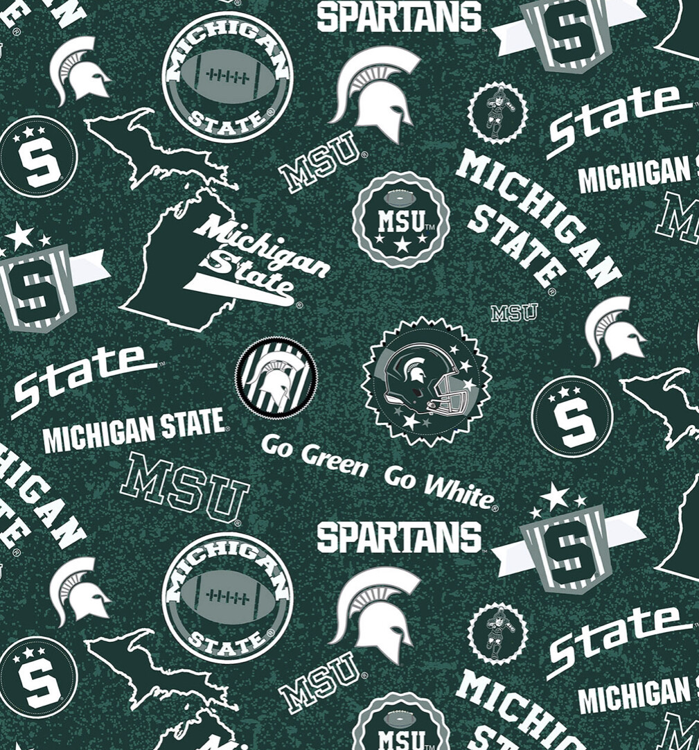 College Michigan State University Spartans Adjustable Reusable Cloth Face Mask