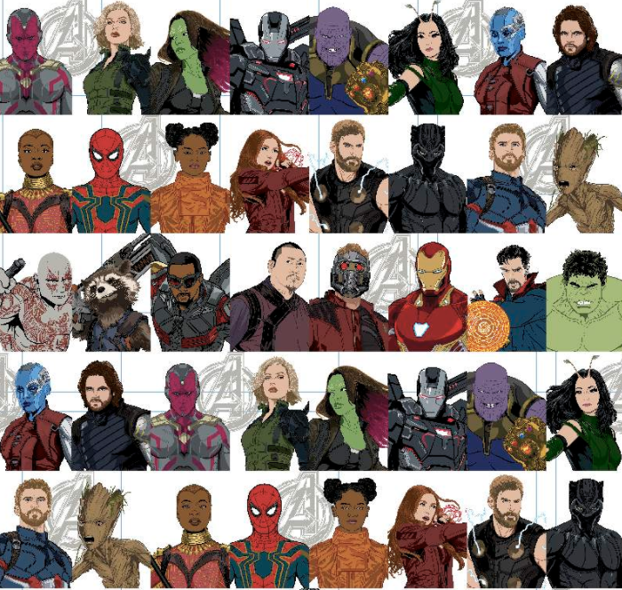 EasyFit Avengers Infinity War Characters Reusable Cloth Face Mask