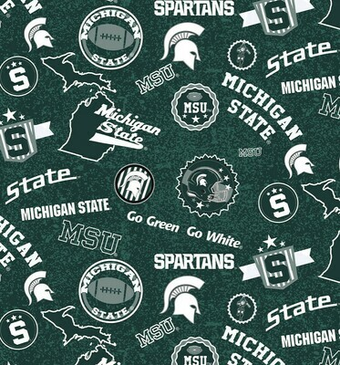 EasyFit College Michigan State University Spartans Reusable Cloth Face Mask