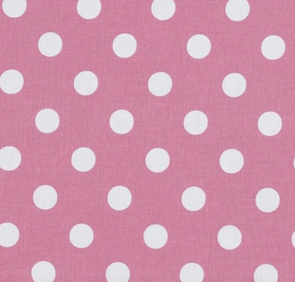 EasyFit Large Polka Dot on Rose Pink Reusable Cloth Face Mask