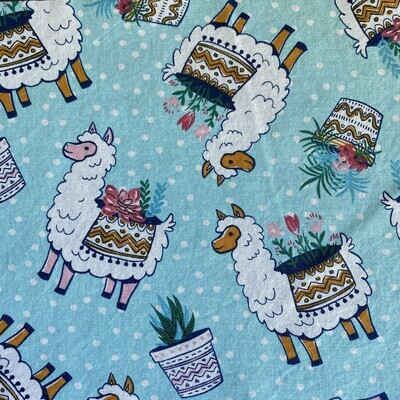 EasyFit Llamas and Plants Reusable Cloth Face Mask
