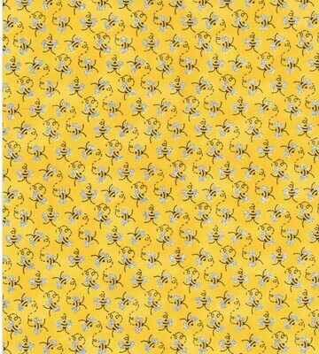 EasyFit Mini Bees with Glitter Wings Reusable Cloth Face Mask