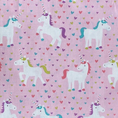 EasyFit Pink Unicorns Reusable Cloth Face Mask