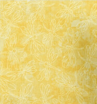 EasyFit Dragonfly on Yellow Reusable Cloth Face Mask