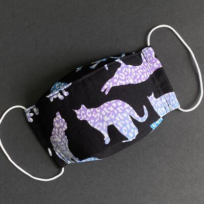 EasyFit Leopard Print Cats Reusable Cloth Face Mask