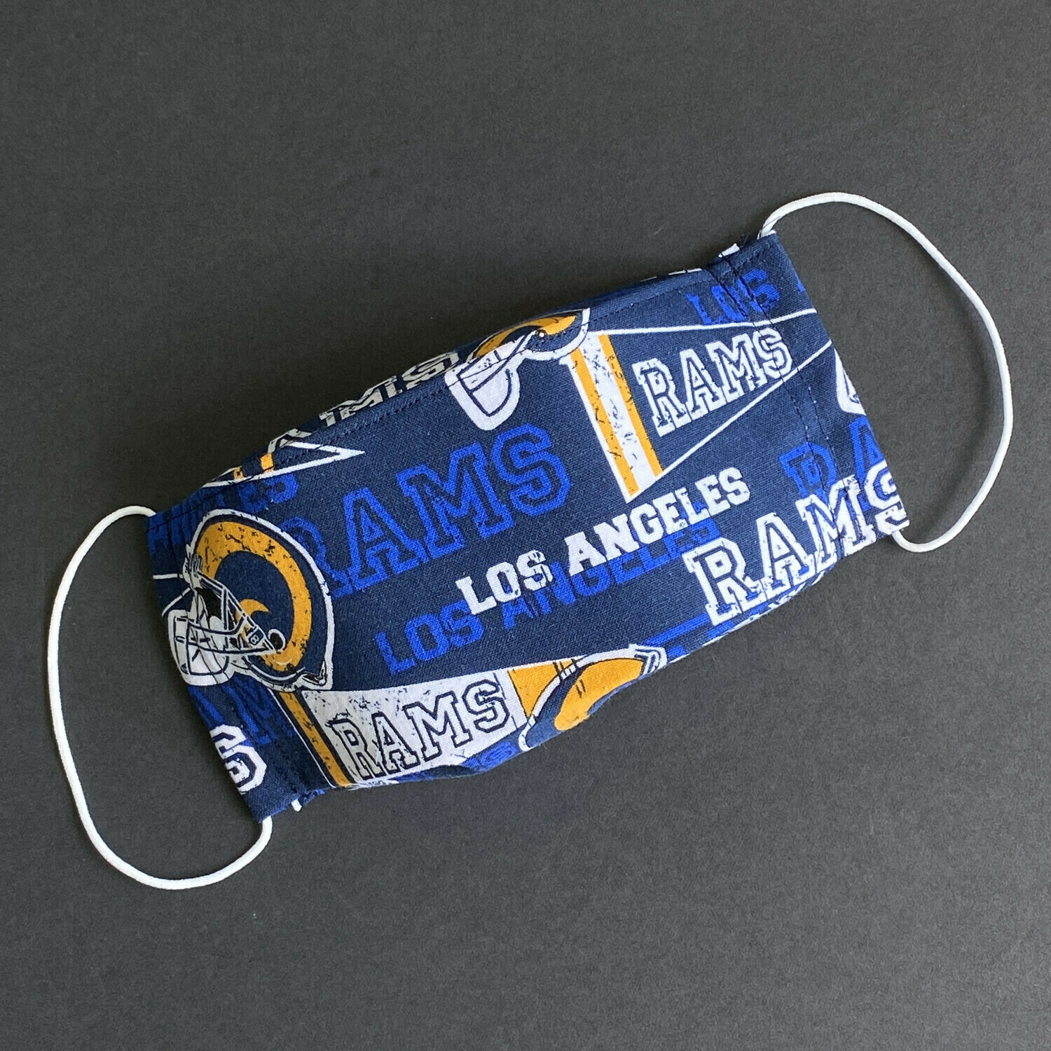 READY TO SHIP EasyFit Football Los Angeles Rams Adjustable Reusable Cloth Face Covering