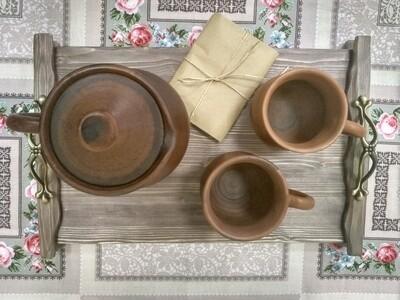 Поднос деревянный для завтрака