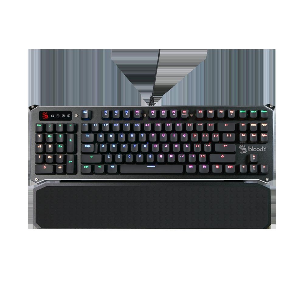 B945 Ergonomic Full-Size Light Strike Libra Optical Gaming Keyboard