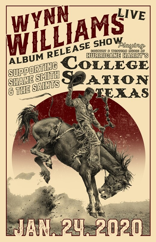 Limited Edition Album Release Show Poster