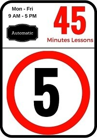 Automatic 5 Lessons of 45 minutes