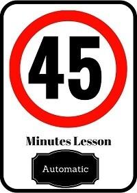 Automatic driving lesson 45 minutes