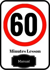 Manual driving lesson 60 minutes