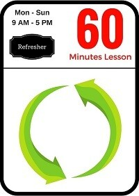 Refresher driving lesson 60 minutes