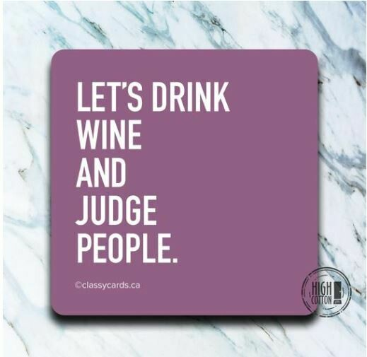 Let's Drink Wine Coaster By High Cotton