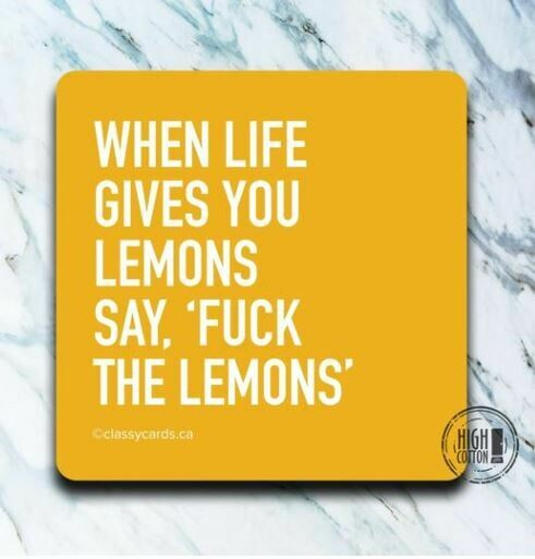 F The Lemons Coaster By High Cotton