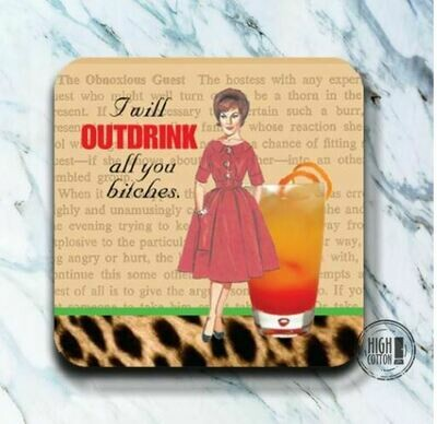 Out Drink Coaster By High Cotton