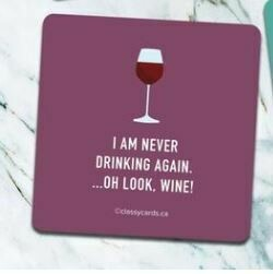 Never Drinking Coaster By High Cotton