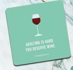 Adulting Is Hard Coaster By High Cotton
