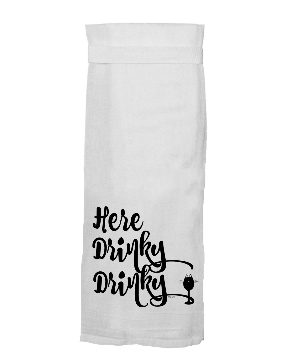 Here Drinky Drinky Towel By Twisted Wares