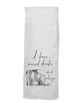 I have Mixed Drinks About Feeling Hand Towel By Twisted Wares