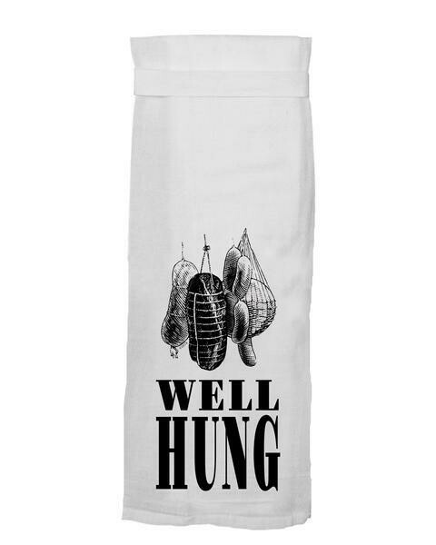 Well Hung Hang Tight Towel by Twisted Wares