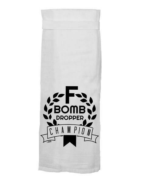 F Bomb Hang Tight Towel By Twisted Wares