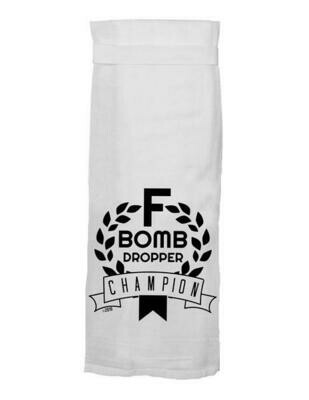 F Bomb Tea Towel By Twisted Wares